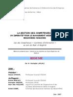 LA GESTION DES COMPETENCES  UN IMPERATIF POUR LE MANAGEMENT MODERNE DES RESSOURCES HUMAINES  Cas des Compétences « Systèmes d'Information » au sein de Bank Al–Maghrib (1)