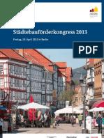 Städtebauförderkongress 2013 in Berlin (Info & Programm) (CO-LECTION[TM]