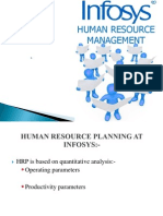 Human resource ppt of Infosys