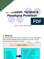 2. Masalah, Variabel Dan Paradigma
