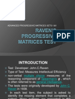APM ( advanced progressive matrices)