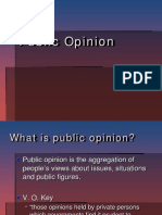 Public Opinion & Elections