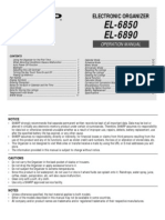 SHARP EL-6850/6890 User Manual