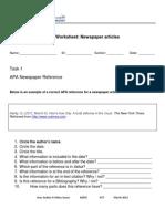 APA Worksheet