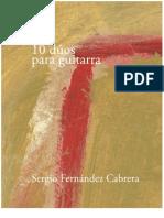 10 Duos Para Guitarra Sergio Fernandez Cabrera (Libro)