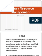 Human Resource Managment ( Chapter 1)