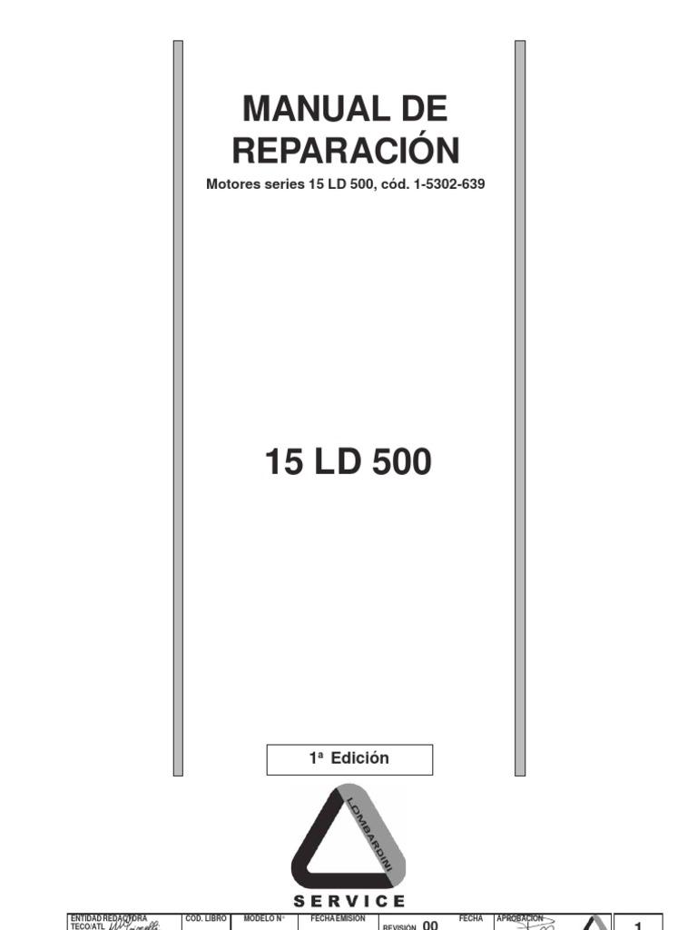 Manual de taller motor Lombardini 15 LD 500 (español