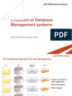 Evolution of Database Management Systems