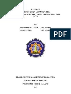 Contoh Laporan Pkl Mahasiswa Manajemen Informatika Kumpulan Contoh Laporan
