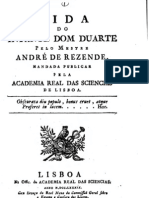 Vida do infante Dom Duarte por André de Rezende
