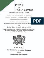 Vida de D. João de Castro, quarto visorey da India