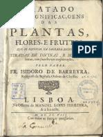 Tratado Das Plantas - Isidoro de Barreira