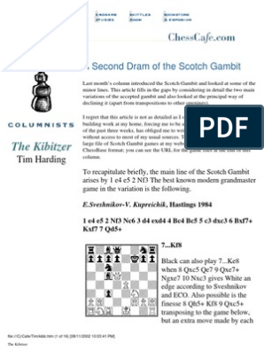 Scotch Gambit Kibitz75 | Chess Openings | Chess