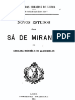Novos estudos sobre Sá de Miranda - Carolina Michaëlis de VASCONCELOS