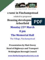 Arborfield Traffic