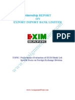 Internshp on Performance Evaluation of EXIM Bank Ltd1