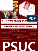 Programa electoral PSUC 1981 PDF