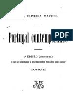Portugal Contemporaneo vol. 2 - Oliveira Martins