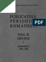 Academia Romana - Publicatiile Periodice Romanesti, Tom 2, 1907-1918