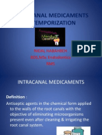 Slides - 7 - Intracanal Medicaments & Temporization