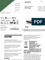Bedienungsanleitung Sony BDP-S790