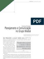 Panejamento e Comunicação no Grupo Medial
