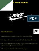 Nike Brand Mantra