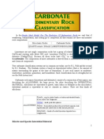 Classification Carbonate Sedimentary Rock
