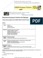 Resumen - Examen Teorico de Manejo - Cosevi-costa Rica