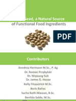 Hemp Seed, a Natural Source of Functional Food Ingredients