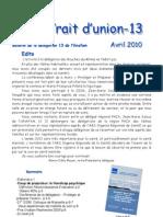 Trait d'Union Avril 2010