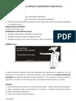 PLANO DE AULA ORAÇÃO SUBORDINADA SUBSTANTIVA