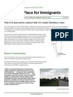 No Place for Immigrants - Policy Brief- Fall 2012