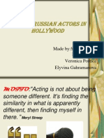 Famous Russian Actors in Hollywood