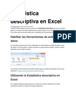 Estadística descriptiva en Excel