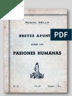 Breves Aountes Sobre Las Pasiones Humanas-r.mella.