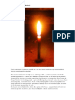 Flacăra unei lumânări  MEDITATIE