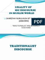 Traditionalist n Modernist's Discourse
