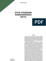 Tadeusz Bednarczyk - Życie codzienne warszawskiego getta