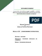 M16 - Environnement InternationalTER-TSC