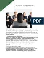 50 Preguntas y Respuestas en Entrevistas de Trabajo