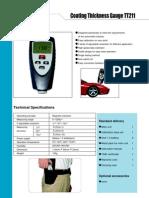 6 Medidor de Espesor de Recubrimiento TT211