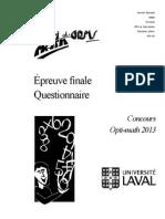 opti-math 2013 - questionnaire  vf