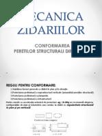 Conformarea Peretilor Structurali Din Zidarie