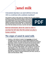 Camel Milk Assingment