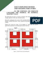 Metoda Simplificata de Calcul Pentru Cladiri Cu Structura Din Zidarie - Varianta 3