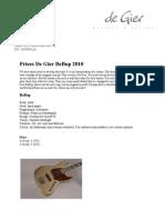 Pricelist Bebop 2010