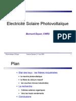 Etat photovoltaique