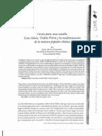 Osorio Fernández, Javier.  Canto para una semilla. Luis Advis, Violeta Parra y la modenización de la música popular chilena