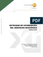 Estandar Informacion Despacho Economico